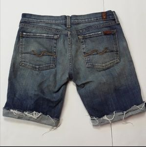 7FAMK》Cut Off Jean Shorts 7 For All Mankind 27